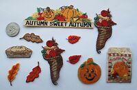 Lot 11Pcs Autumn Fruit,Pumpkin,Maple Leaf,Pancake Embroidery Iron On Patch-No.1