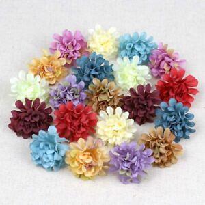 Bulk 80P/Lot 1.6in Artificial Flower Silk Hydrangea Heads Carnation Fake Flowers