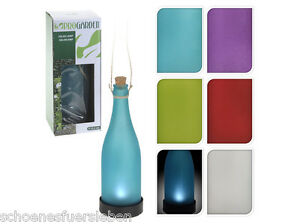 6er Set LED Solarflasche Solarlampe Solarbetrieben Kork Weinflasche Flasche Bunt