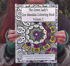 Adult Colouring book Zen Mandalas Volume 2 meditation mindfulness calming stress