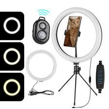 12'' LED Ring Light Cell Phone Holder Tripod Stand For Selfie Makeup Live Stream