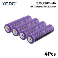 high performance gif 14500 battery 2300mah 3.7v rechargeable li-ion cell 4pcs A
