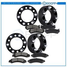 ECCPP 4Pcs Wheel Spacers 8pcs Front and Rear Disc Brake Pads For Chevrolet GMC