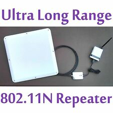 2 Mile! SuperLinxs 48dBm Long Range WIFI Repeater Antenna Router Booster Combo
