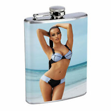 French Women D3 Flask 8oz Stainless Steel Hip Drinking Whiskey