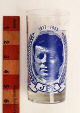 President John F. Kennedy JFK drinking glass blue/white design
