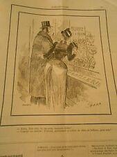 Caricature 1890 - Acheter ce collier de chien en brillants pour sa femme fidèle