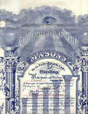 GRAND LODGE OF FREE & ACCEPTED MASONS MEMBERSHIP CERTIFICATE 1928 leather case