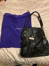 JIMMY CHOO for H&M Black Heavy Leather Shoulder Bag Purse