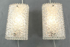 Set of 2 Vintage Wall Sconce or Mirror Lamps with Glass Shades by Hoffmeister