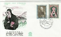 Monaco 1968 Centenary of Abbey Nullius Diocesis St.Benoit FDC Stamps Cover 26381