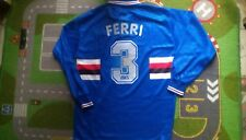 Sampdoria 1995-96 Ferri 3 match worn shirt maglia calcio indossata vintage asics