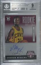 2014-15 Panini Totally Certified Roll Call /249 Andrew Wiggins BGS 9 Rookie Auto