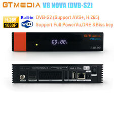 GTMEDIA V8 NOVA DVB-S2 Digital Satellite Receiver Support PowerVu,Biss key H.265