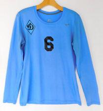 NIKE Dri-Fit WVC DYNAMO MOSCOW VOLLEYBALL TEAM Workout #6 SHIRT Logo Blue SMALL