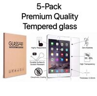 [5 Pack] Tempered GLASS Screen Protector for Apple iPad 6th Generation 2018