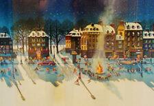 "Hiro Yamagata       ""Snowfire""       Serigraph on Paper   BA"