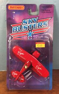 Vintage 1988 Matchbox Int'l SB18 Sky Busters Pitts Special Virgin Atlantic