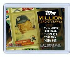 2010 (yankees) Topps Million Card Giveaway #tmc25 Mickey Mantle