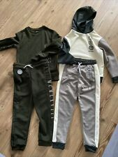 Boys River Island Tracksuits Aged 7-8 New Green Cream