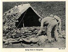 1914 Kampf in Galizien-Karpathen * Fertige Brote in Schutzelten  *  WW1