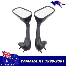 Replacement Rearview Side Mirrors for Motorcycle Yamaha YZF R1 98 99 00 01 Black