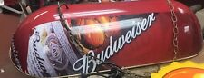 Budweiser beer sign lighted billiard pool table light  Anheuser-Busch