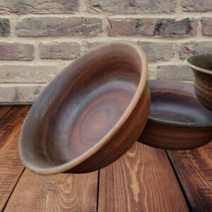 Ceramic bowl for broth, soup, borsch. Pottery Clay handmade from red clay.