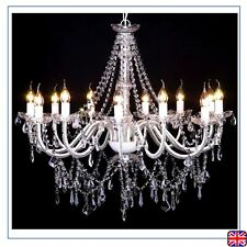 Ceiling Chandeliers Pendant Light W/1600 Crystals White  Lamp Lighting E14