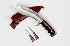 "6"" Brown Sheath Handmade Khukuri,Knife Afghan Gripperblocker Handle Kukri By NHZ"