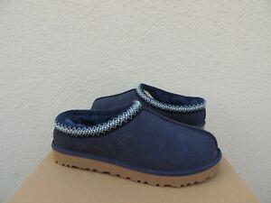 UGG TASMAN NAVY BLUE SUEDE/ SHEEPSKIN SLIPPERS/ SHOES, WOMEN US 12/ EUR 43 ~NIB