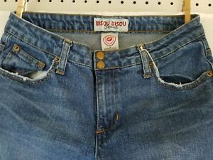Bisou Bisou Blue Jeans Size 8 Decorated back pockets pink stones