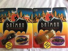 Lot of 2, BATMAN, The Animated Series Die Cast Metal, BATCYCLE & BRUCE WAYNE CAR