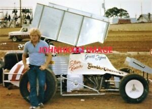 YOUNG WOO STEVE KINSER #11 COLOR PHOTO-20 TIME WOO SPRINT CAR CHAMPION-INDY 500