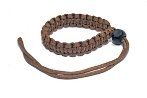 Paracord Camera Wrist Strap Fully Adjustable Braided Brown Paracord Wrist Strap