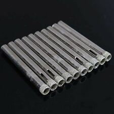10Pcs 6mm Diamond Coated Core Drill Bits Hole Saw Glass Tile Ceramic Marble