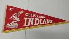 1960s Cleveland Indians BASEBALL FULL SIZE PENNANT - RARE VINTAGE Memorabilia