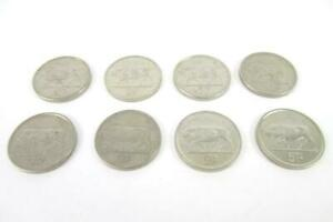 Lot of Eight 5 Pence Coins From Ireland Dated 1993-2000