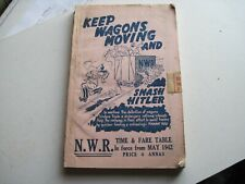 More details for north western railway (india) timetable 1942