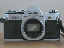 CANON AE-1 CAMERA BODY IN SILVER &  BLACK WITH A RARE VINTAGE CLASSIC IN VGC GWO