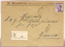 POSTA MILITARE 15 RACCOMANDATA DA COSTANTINOPOLI francobollo 50 c. #XP341I
