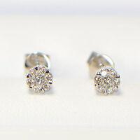 NEU Diamant Ohrstecker 0,28 ct in 750er Weissgold 18K Pavé Brillant Ohrringe