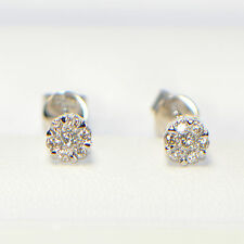 NEU Diamant Ohrstecker 0,28 ct in 750er Weissgold 18K Pavé Brillant Ohrringe