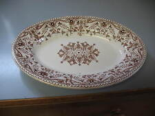 Antique 1885 T&R Boote Tournay Brown & White Transfer Ironstone Dish, England