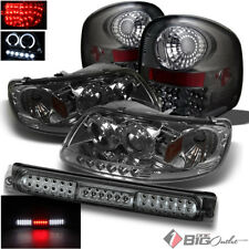 For 97-03 F150 Flareside Smoked Pro Headlights + LED Tail Lights + 3rd Brake LED