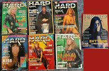 Lot 7 HARD ROCK MAGAZINE sortis entre 1986 et 1995, bon état à assez bon état