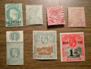 British Africa: St Helena - # 33 to # 50 - from 1884 to 1903 - 7 stamps w MR2
