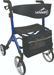 """Voyager Euro Style Rollator Walker, Adjustable For 4'11"""" to 6'4"""", Seat, 3 Colors"""
