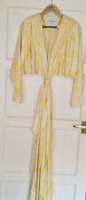 VINTAGE années 70 jaune robe de soie/Robe par David Brown California
