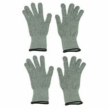 4 X Safety Cut Proof Stab Resistant Woven Mesh Butcher Gloves Kitchen Safety PPE